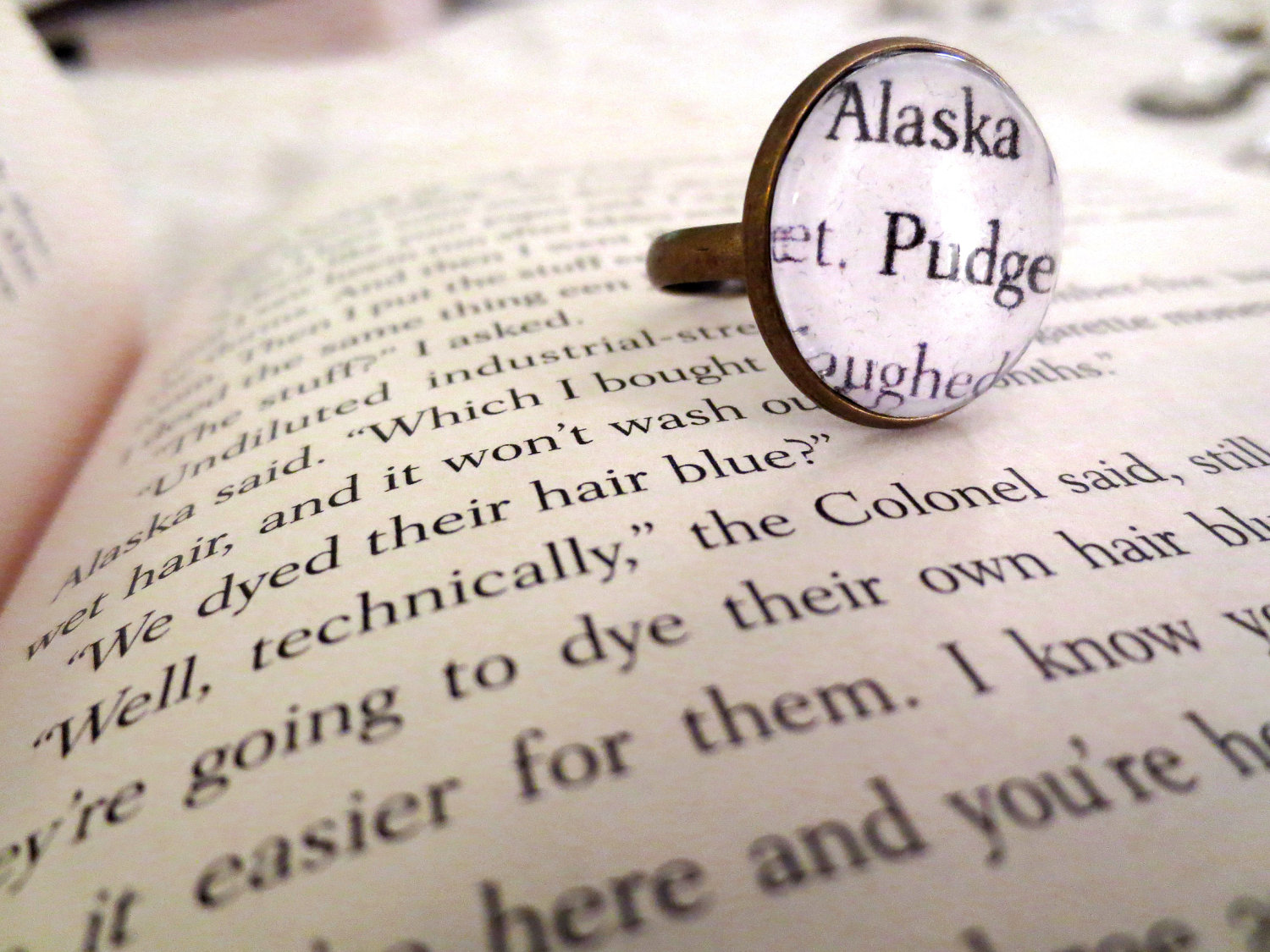 Drawing Looking For Alaska Alaska: Looking For Alaska Alaska And Pudge Antiqued Bronze